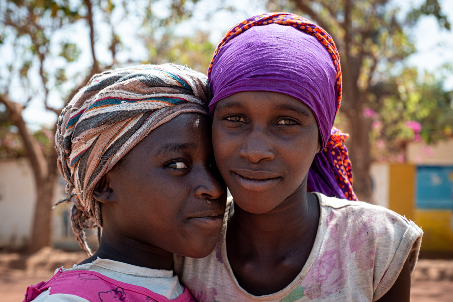 Portrait of two Gambian girls