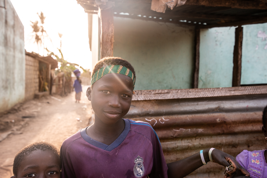 Kids in Gunjur, the Gambia, Africa.