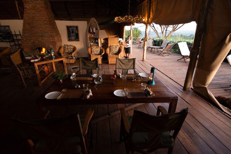 Dinner table ready at Rothia Valley, Tanzania