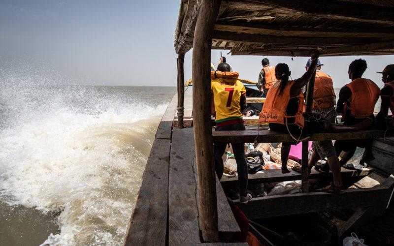 Rough boat ride Bubaque, Guinee Bissau