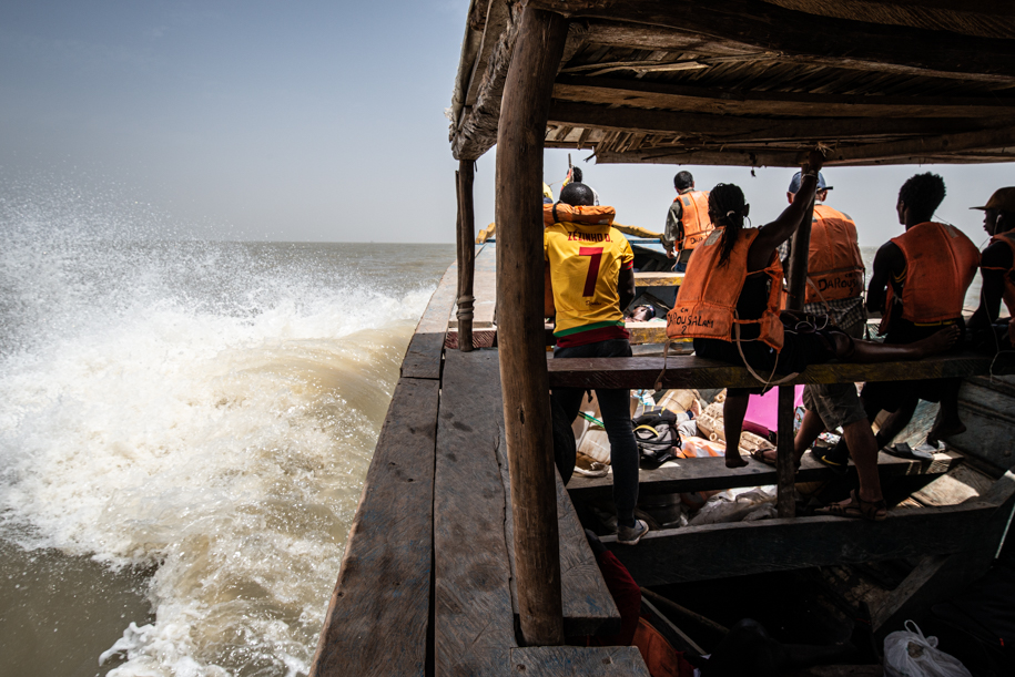 Rough boat ride Bubaque, Guinee Bissau