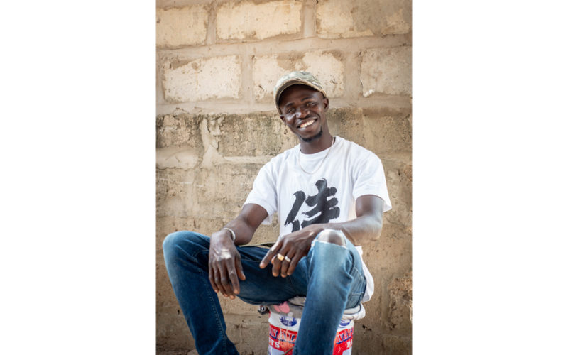 Smiling young Gambian man