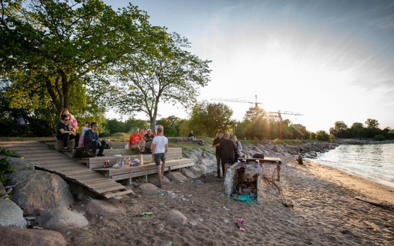 BBQ on the beach in Tallinn