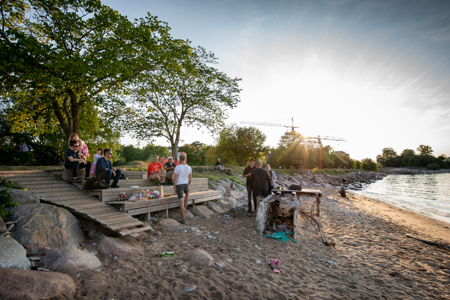 BBQ on the beach in Tallinn