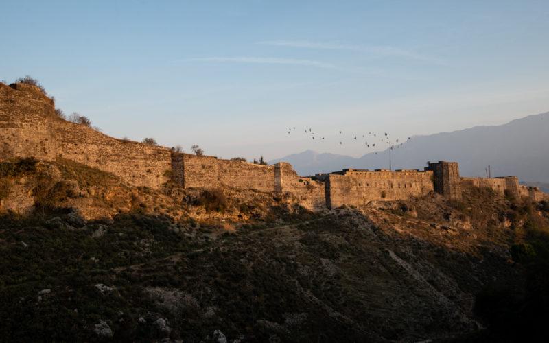 Wall in Gjirokaster, Albania