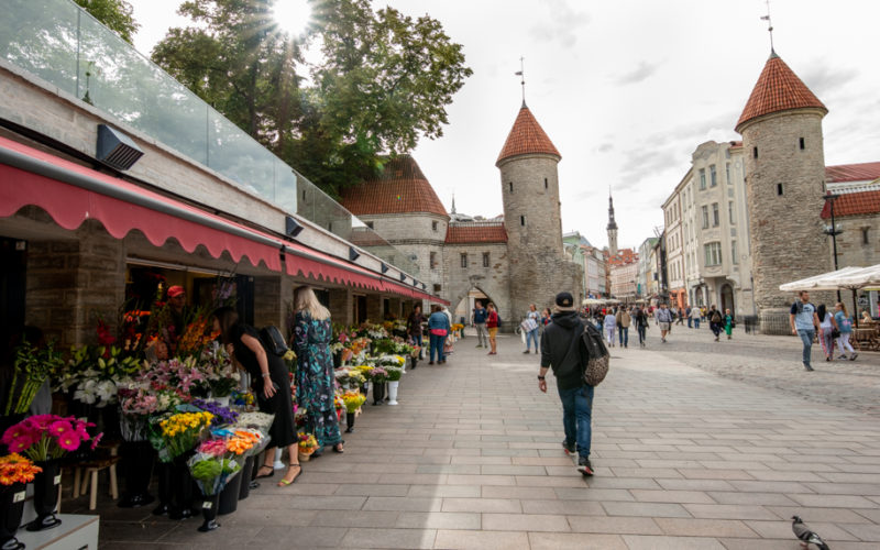 The gates and walls of Tallinn